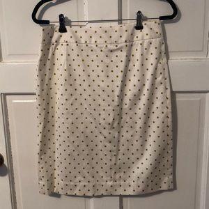 J. Crew Polka Dot Pencil Skirt Size 8